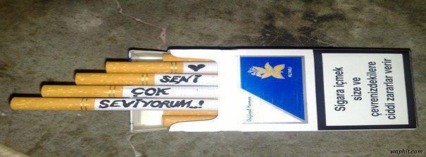 Sigaradan güzel yazılı facebook kapak fotoğrafı