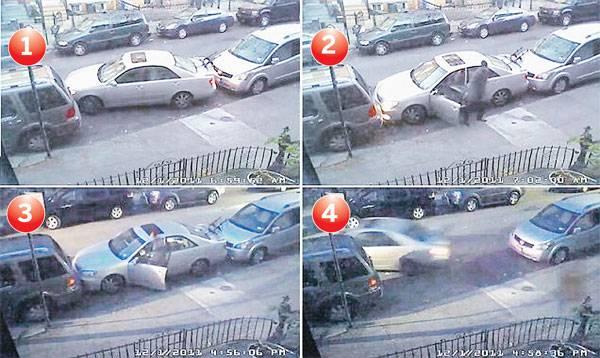Lelaki tidak dikenali itu meletak kereta sedan miliknya di ruang