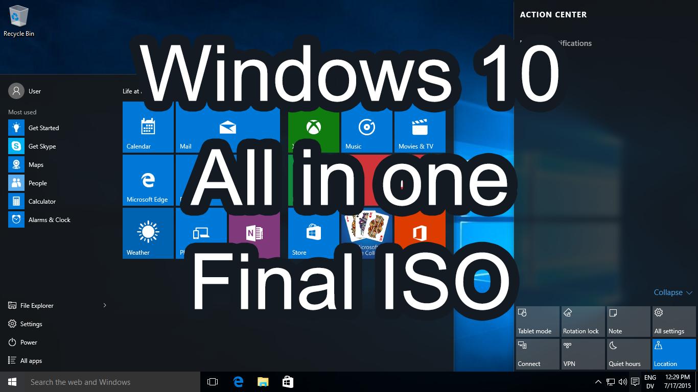Windows торрент через 10 iso
