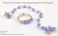 Wire Wrapped Lavender Bracelet and Ring set