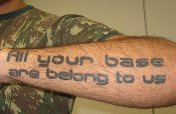 Art sci 10 internet meme tattoos for All in one tattoo