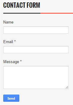 default contact form