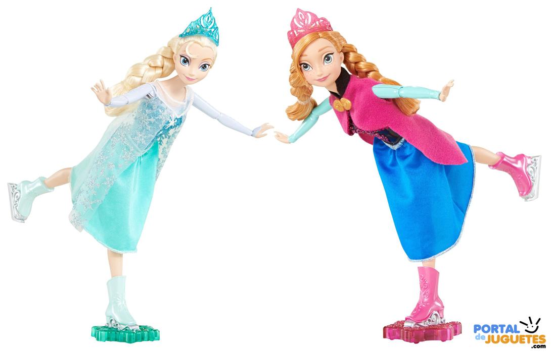 muñecas elsa anna patinadoras frozen mattel