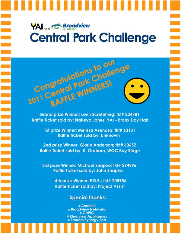 Central Park Challenge Blog: 2011