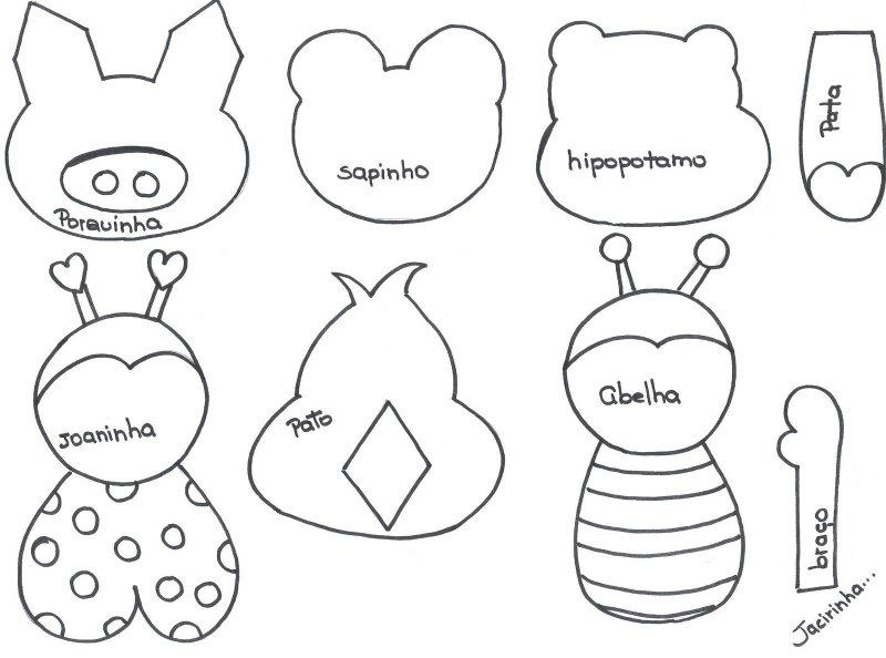 Moldes de animales en fomi para imprimir - Imagui