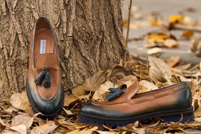 zapatos nuevos comodos mocasines pintados a mano modelo Brera de Fratelli Rossetti