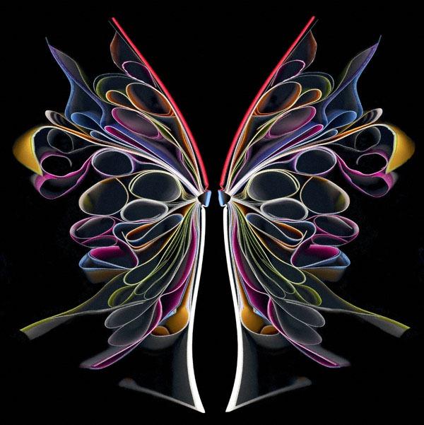 Nghệ thuật tạo hình từ sách báo cũ của nghệ sĩ Cara Barer