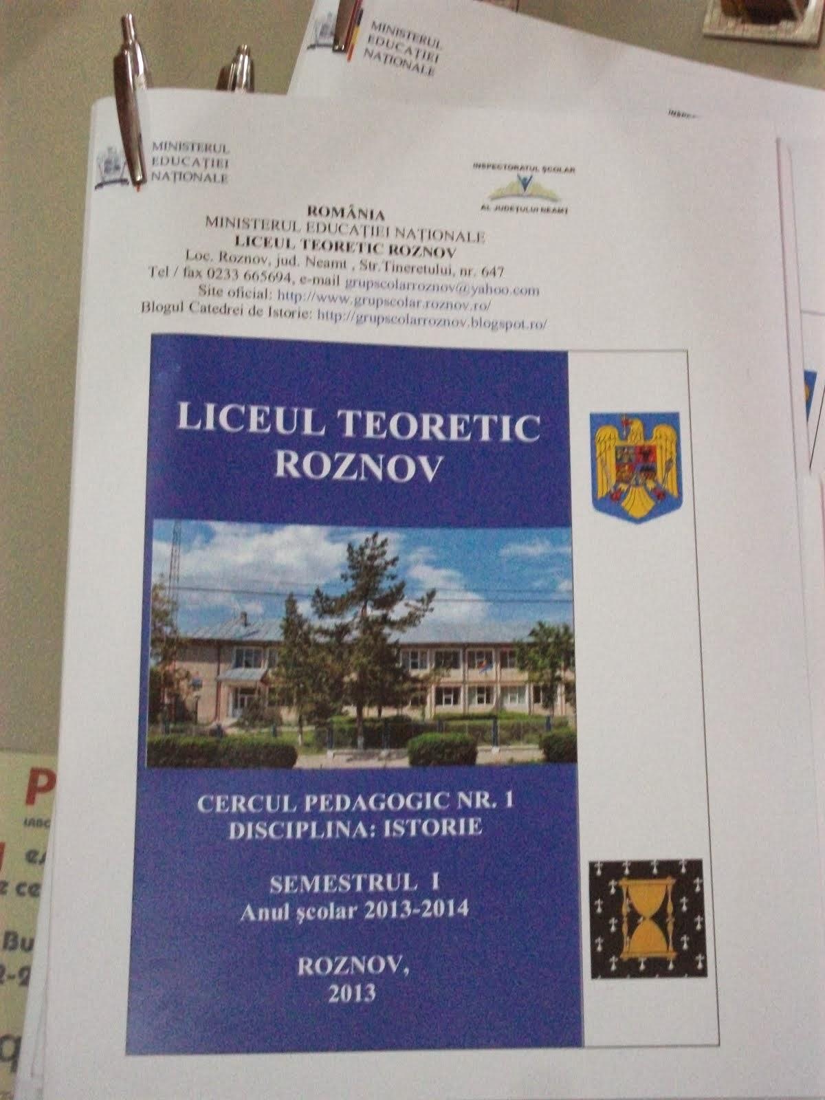 Mape de lucru, Cercul de Istorie, 13.11.2013....