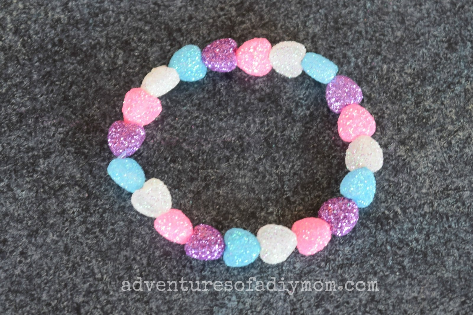 Sparkle Heart Valentines Bracelets