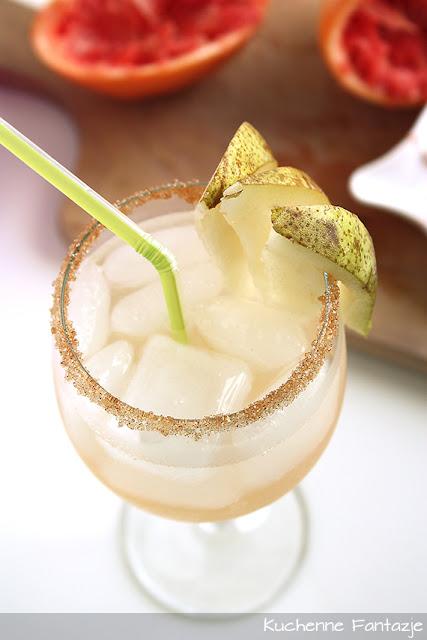 koktajl owocowy, grejpfrut, wódka, alkohol,