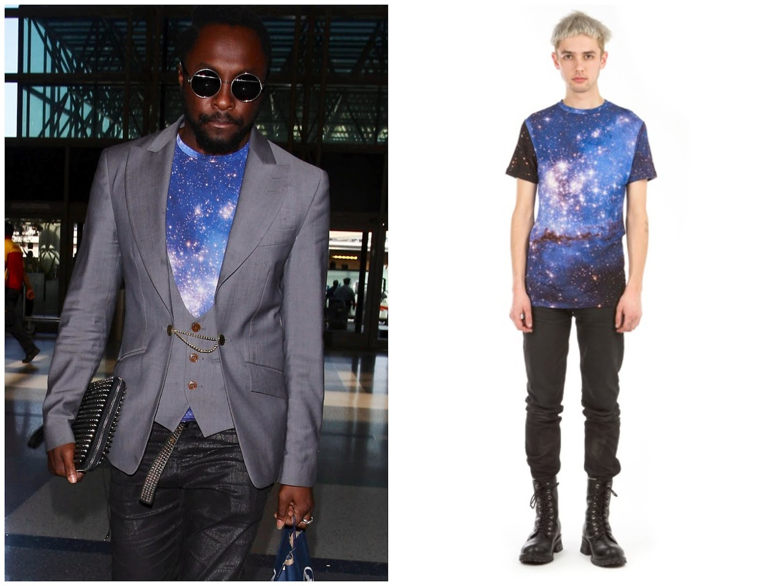 00o00 London Menswear Blog celebrity style Will.i.am in Vivienne Westwood and Christopher Kane - LAX Airport Los Angeles, California Farfetch.com