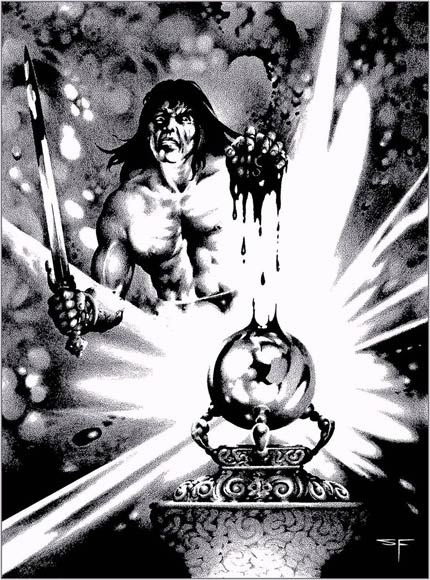 Conan Tower of Set Conan Set His Teeth And Drove