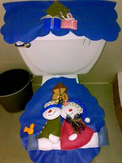 CREACIONES LUZMA: Juegos de baño Navidad en fieltro