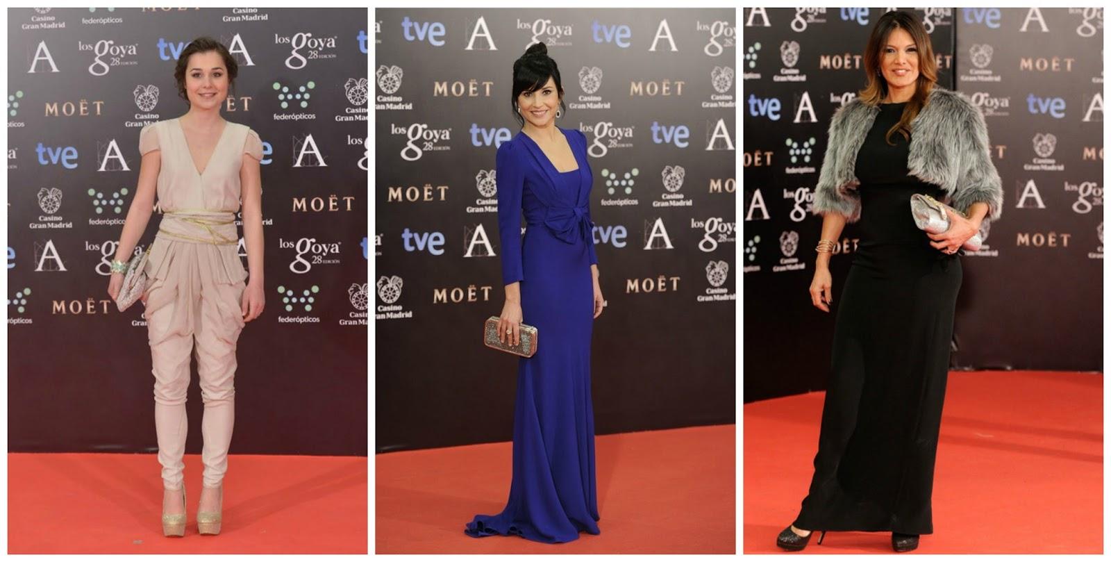 Nadia de Santiago-Marian Álvarez- Ivonne Reyes Peor vestidas Goya 2014