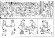 Dibujos Cristianos para colorear: Jesus con los niños para colorear diaconos
