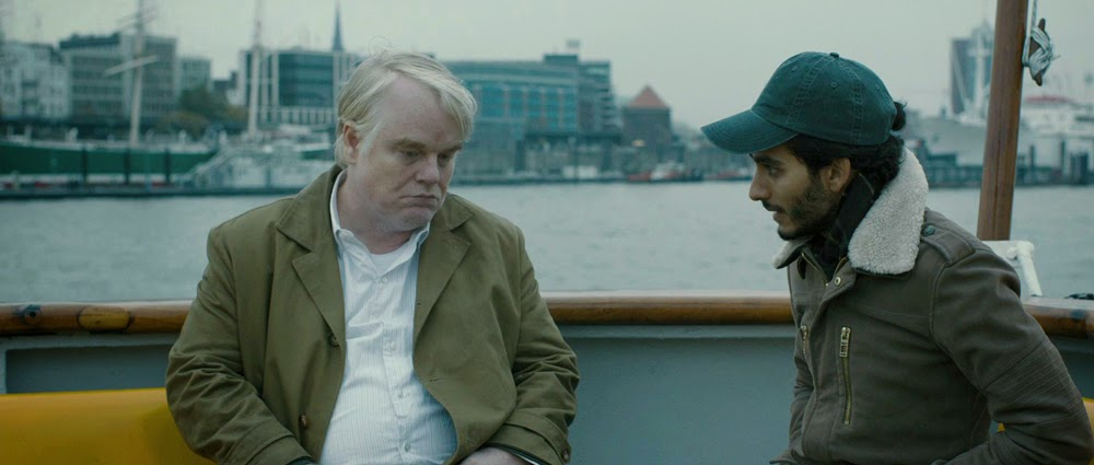 Philip Seymour Hoffman and Mehdi Dehbi in A Most Wanted Man