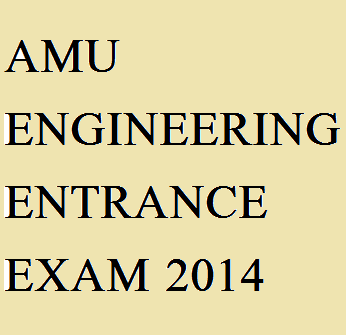 AMU Engineering Entrance Exam 2014.