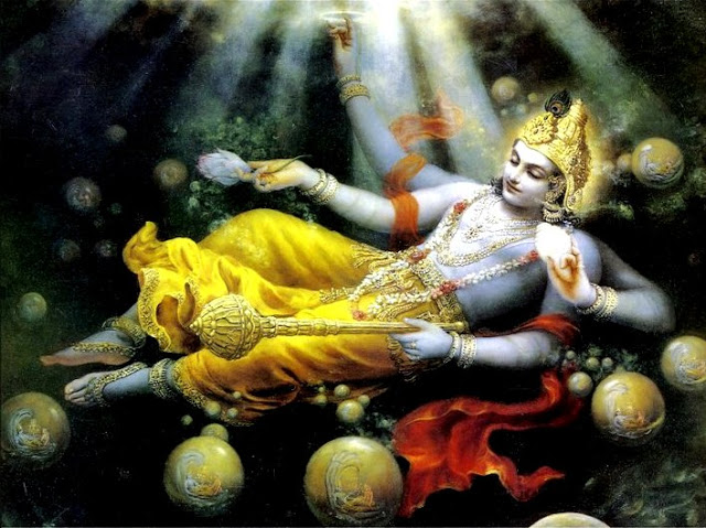Lifetime of Our Universe is just a single Breath of Shri Maha Vishnu!
