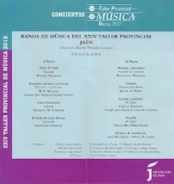 BANDA PROVINCIAL DE MÚSICA DEL XXIV TALLER - BAEZA 2012
