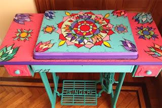 reciclaje y restauracion con maquina de coser singer