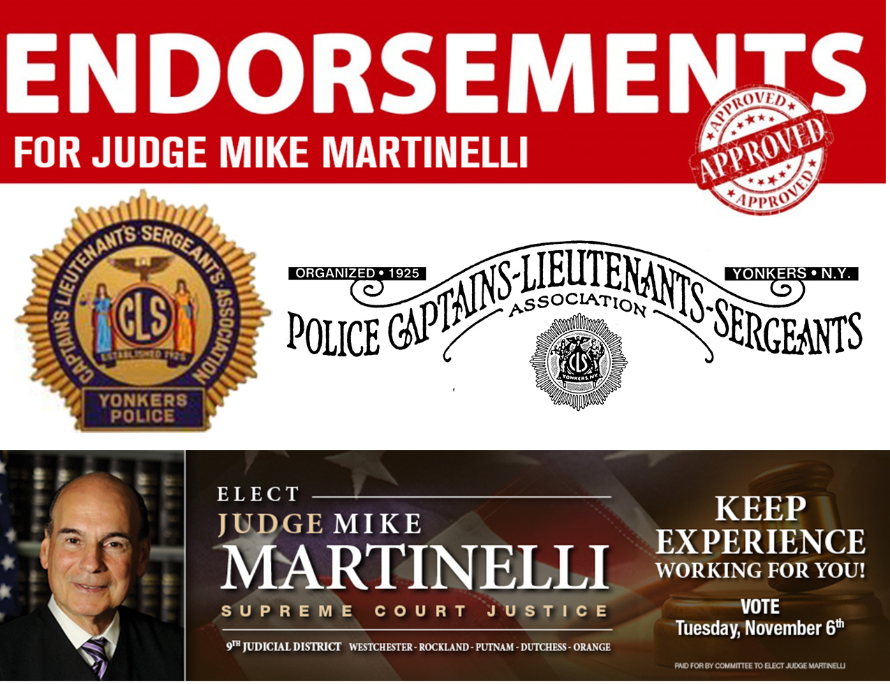 Judge Michael Martinelli for New York State Supreme Court - 9th Judicial District.
