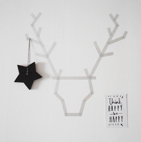 decoración navidad con washi tape