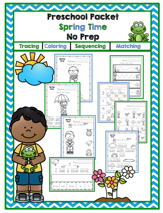 Kindergarten Worksheets Printable Packets : Preschool packet quot spring printable printables