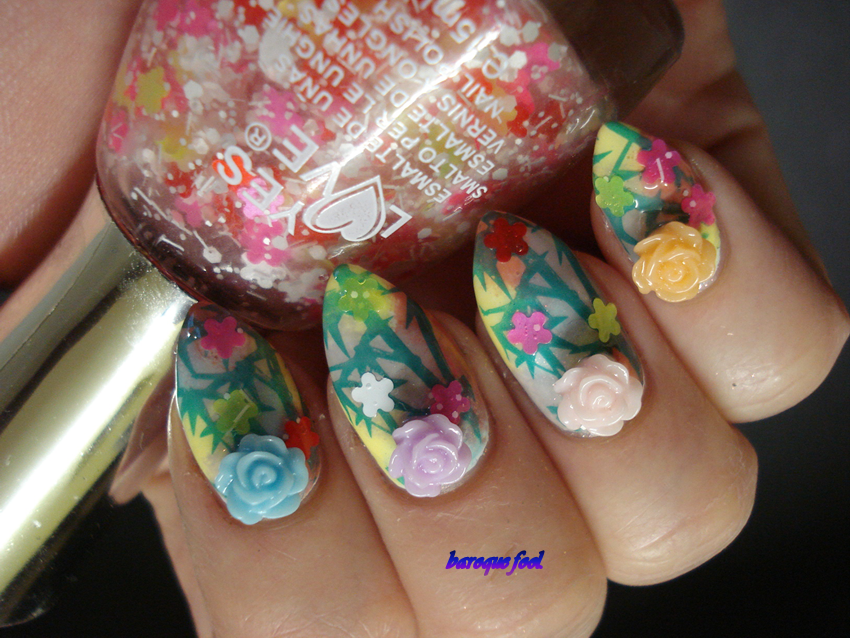Baroque fool bps spring inspired nail art competition lets keep my fingers crossed i might win something i am not having the best of luck with nail art competitions prinsesfo Images