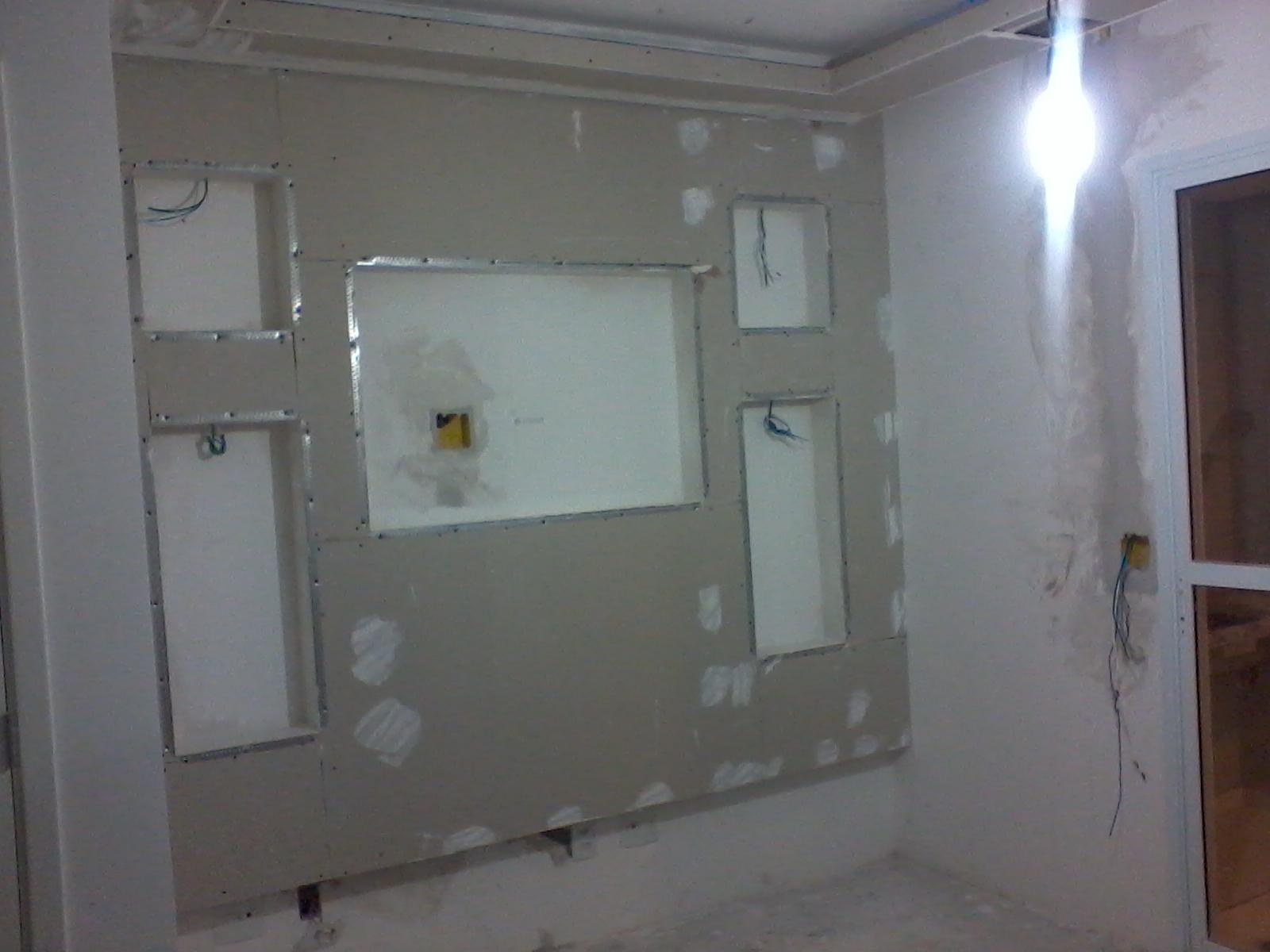 #445B87 Parede de gesso na Sala de Estar 1600x1200 píxeis em Decoração De Sala De Estar Com Gesso