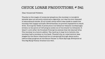 Chuck Lorre'dan Mesaj Var