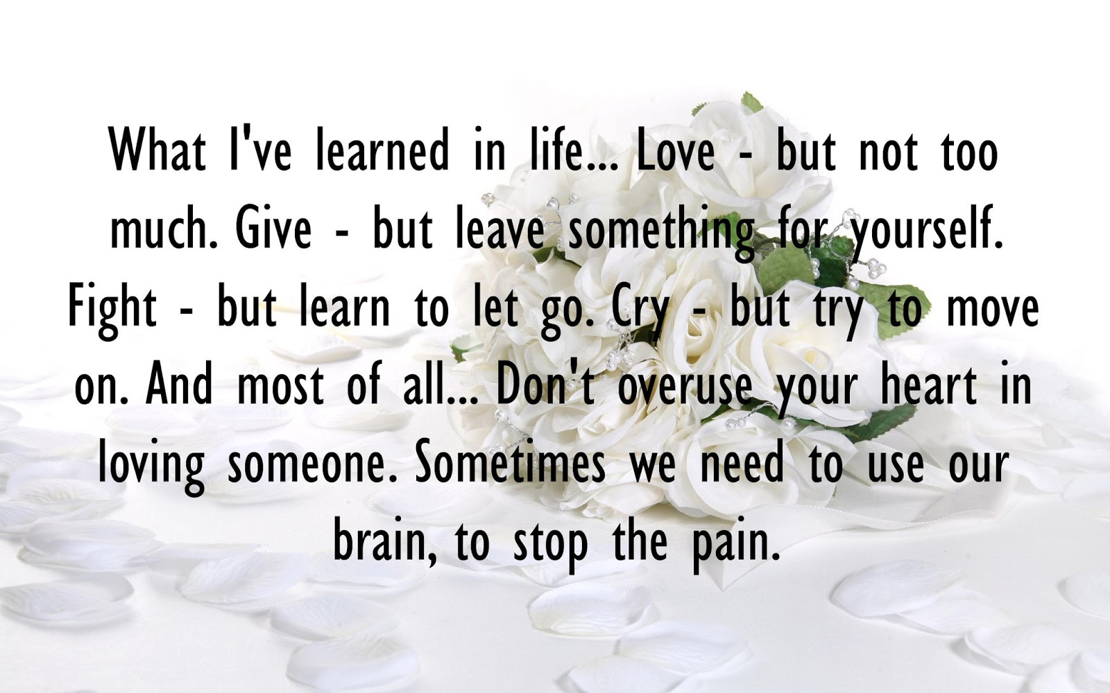 Not every love needs to be let go