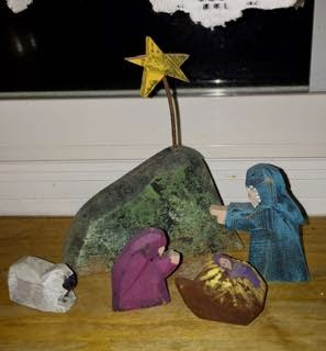 Carved Folk Nativity, Dennis Allwardt