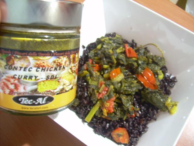 Nella cucina di teresa riso venere con bietole al curry - Nella cucina di teresa ...