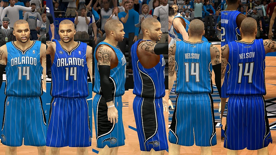 NBA 2K14 Orlando Magic Jersey Mod Pack