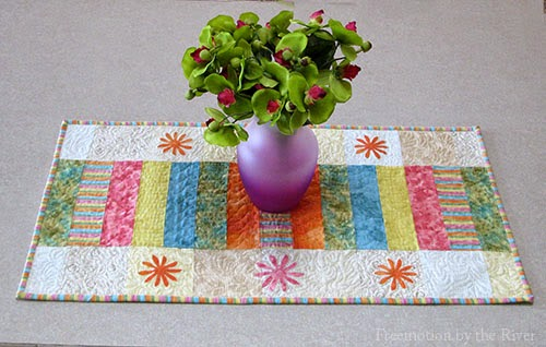 Sherbert Stripes table runner at Freemotion by the River