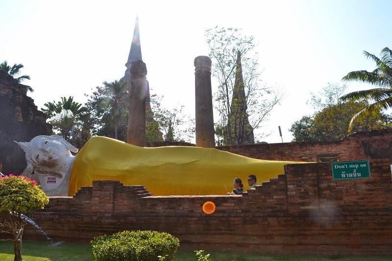 Wat Yai Chai Mongkol, Ayutthaya, Thailande, royaume de siam, temples, ruines