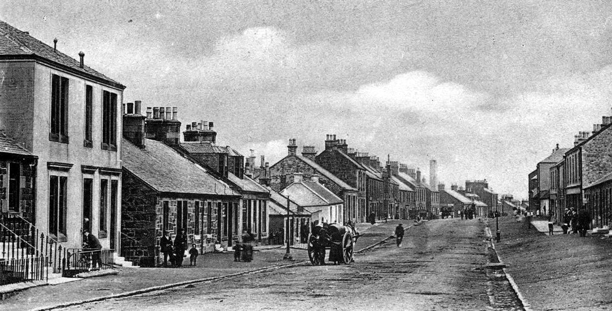 tour scotland photographs old photograph west main street
