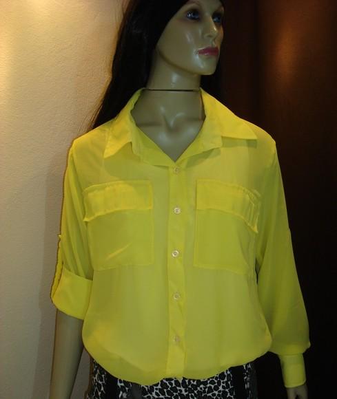 BELLA VITA: Tendencia : Camisa/Blusa Transparente de Chiffon/