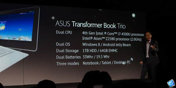 ASUS Transformer Book Trio Specifications