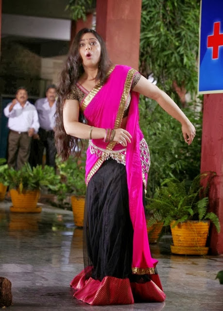 Charmi Kaurs In Red Saree