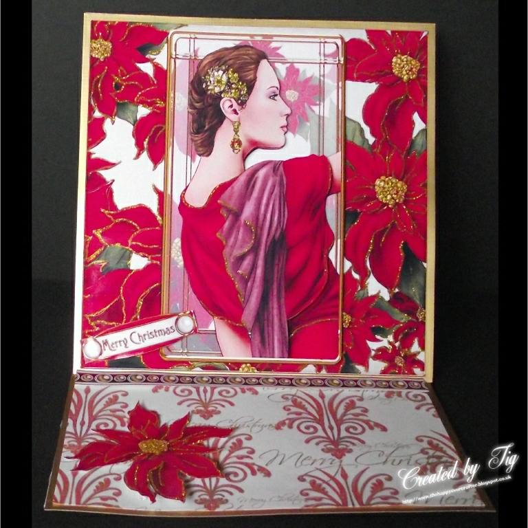 Tig\'s Cards: ART DECO CHRISTMAS CARD