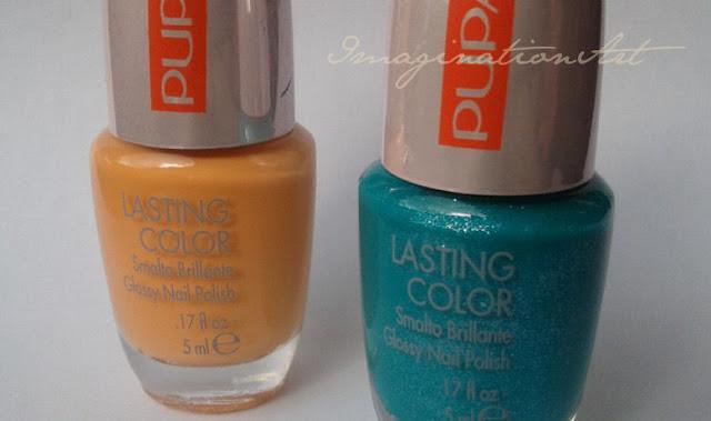 pupa smalto unghie nail polish lacquer 50'd dream primavera 2013 dream apricot 516 dream pearly green 742