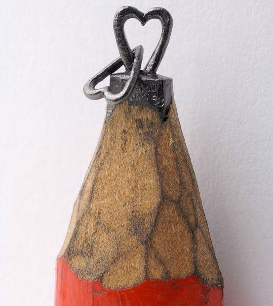 mina de lápiz tallada
