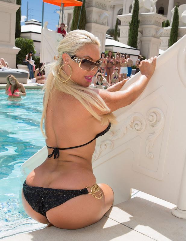 Nicole Coco Austin in  a tiniest bikini