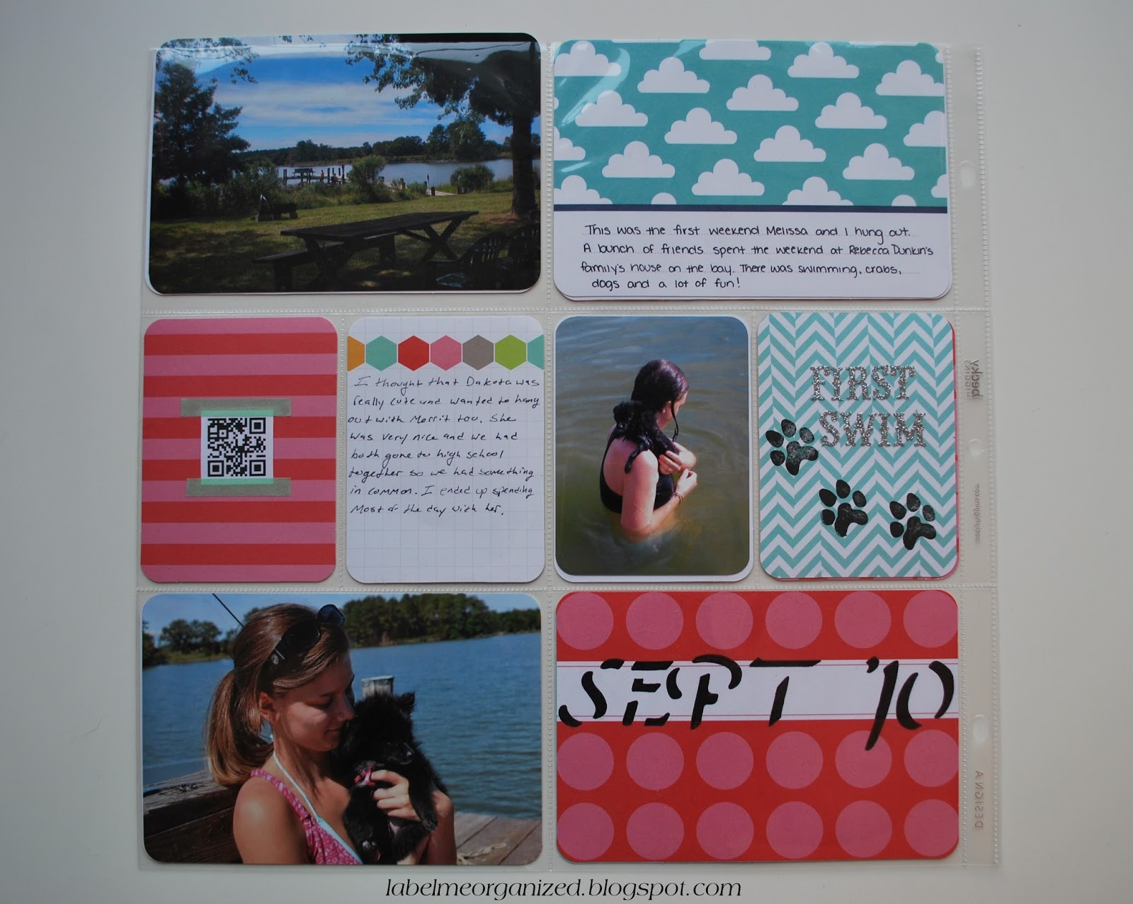 Project Life: The Very Beginning layout by labelmeorganized.blogspot.com