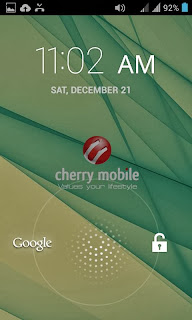 Cherry Mobile Sonic 2.0 Lockscreen
