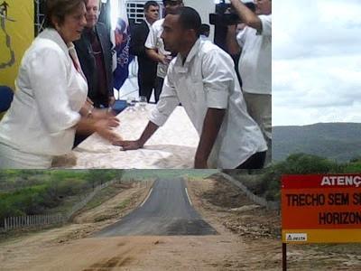 MIGUEL NA LUTA PELA CONSTRUÇÃO DA ESTRADA SÃO TOMÉ CERRO-CORÁ