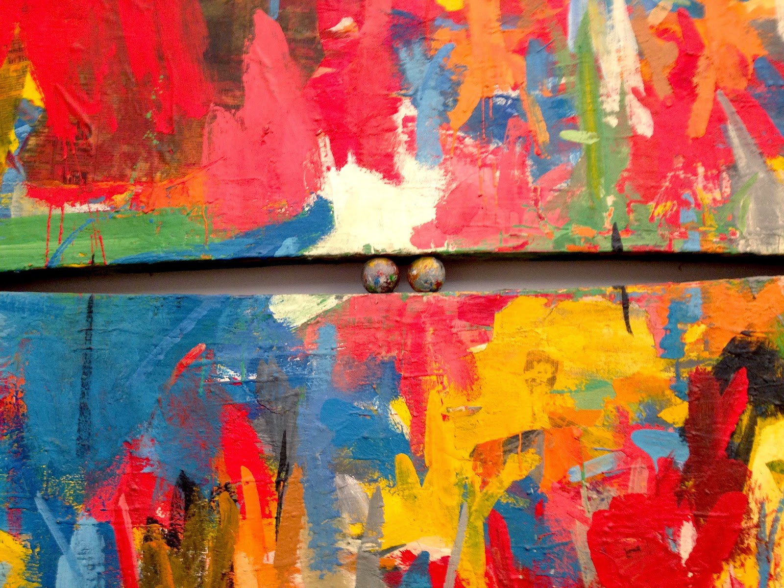 1960 jasper johns painting with two balls