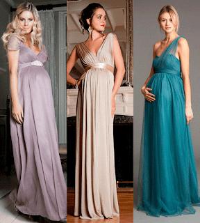 vestido longo para gestante 2015