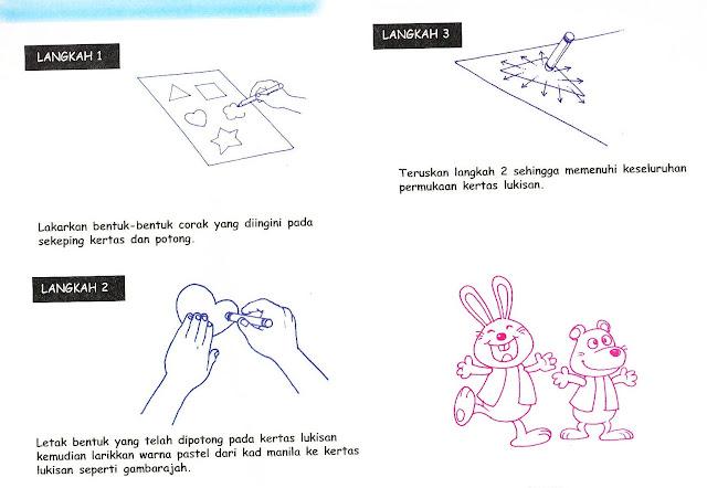 Langkah 3 memerlukan kesabaran supaya corak hiasan yang dibentuk ...